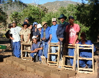 N. Cape - Roodebergkloof Farm, mud brick making crew